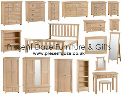 Lowestoft Lime Wash Oak Bedroom Furniture with Chrome Cup Handles