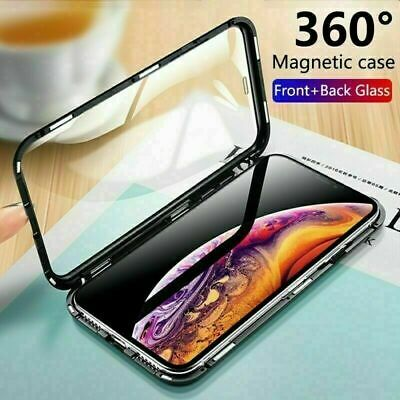 360 Protective Magnetic Glass Phone Case Cover for iPhone 6 7 8 Plus X XS MAX