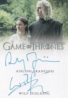 Game of Thrones Inflexions,Aisling Franciosi / Wilf Scolding Dual Autograph Card