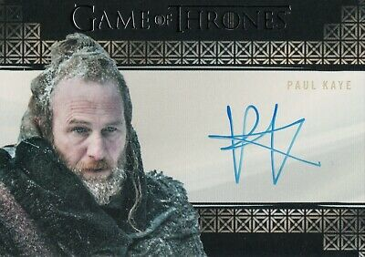 Game of Thrones Inflexions, Paul Kaye 'Thoros Of Myr' Autograph Card