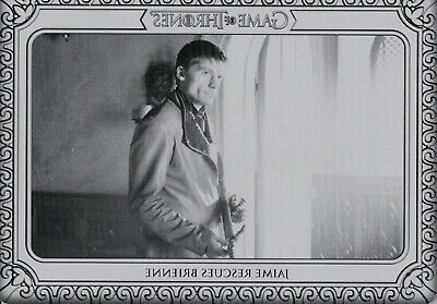 Game of Thrones Inflexions, Printing Plate Card #54 'Jaime Rescues Brienne' 1/1