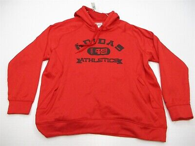 ADIDAS Hoodie Men's Size XXL ATHLETICS CLIMAWARM Long Sleeve Pull Over Red