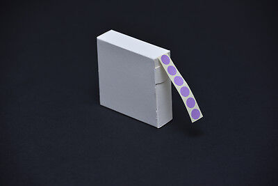 1000 Purple Stickers 12Mm Dia. Coloured Self Adhesive Labels Sticky Dots