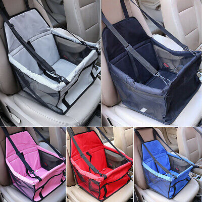 Portable Dog Booster Car Seat Carrier Travel w/ Safety Belt For Pet Up to 15lbs