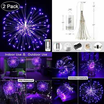 2 Pack LED Starburst Lights 8 Modes 120 Dimmable Fairy Twinkle Fireworks String