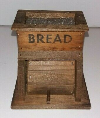 """4"""" Wooden Bread Box with Moving Lid"""