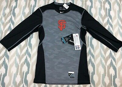57053e4c7 Nike Pro Mens SF Giants Hypercool Series Fitted Baseball DriFit Shirt Size  Small