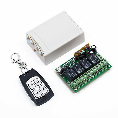 4 Channel Relays Wireless Remote Control Switch Transmitter+Receiver Kit DC 12V
