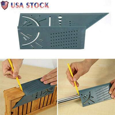 Portable 3D Mitre Square Angle Measuring Woodworking with Gauge and Ruler US