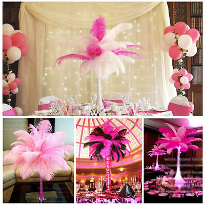 10/100pc 12-14 Inches 30-35cm Ostrich Feather Wedding Party Room DIY Decoration