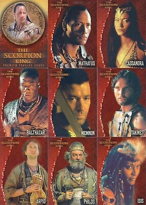 The Scorpion King  - Complete Trading Card SET (72) 2002 Inkworks - NM