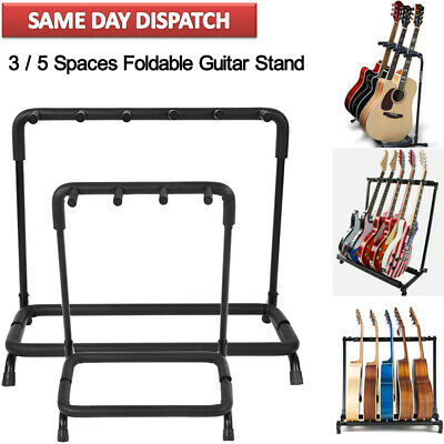 3 5 Guitar Rack Stand For Multiple Guitars Electric Acoustic Bass Folding
