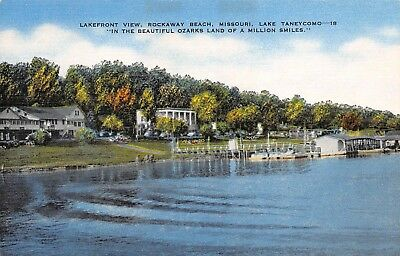 Lake Taneycomo MO Missouri Lakefront Rockaway Beach Baptist Hill Bridge 2 cards