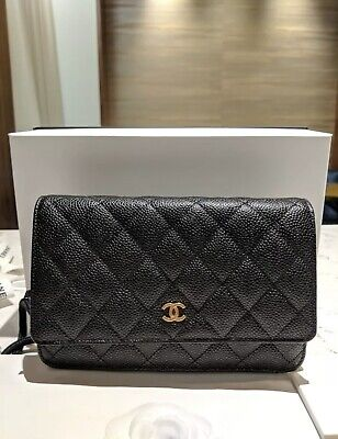 efa81212aff52e Authentic CHANEL - WOC (Wallet On Chain) - Black Caviar - Silver Hardware!