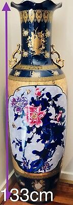 133cm Large Old Chinese Porcelain Beauty Flower Vase