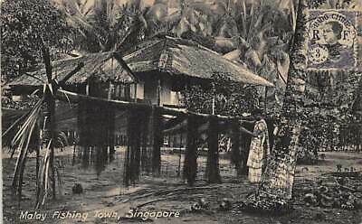 Singapore - Malay Fishing Town - Publ. Hock 37.