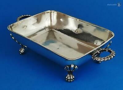 Small William IV OLD SHEFFIELD PLATE Footed SERVING DISH c1830 28cm