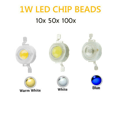 10 50 100pcs 1 Watts Diodes Chip LED COB Chip Lights Lamp White Blue High Power