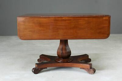 Antique Victorian Mahogany Drop Leaf Centre Hall Side Dining Table