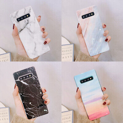 For Samsung Galaxy S10 Plus S10E M10 A50 Marble Pattern Soft Silicone Cover Case