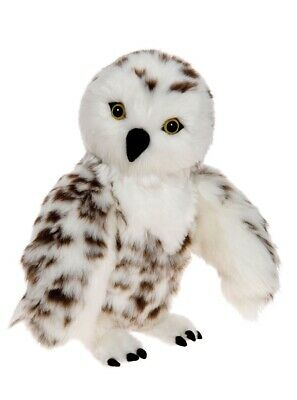 NEW Sklyar Snowy Owl by Charlie Bears Soft Cuddly Plush Jointed Collectable Owl