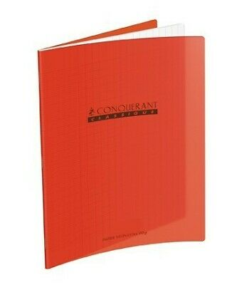 Cahier 17x22 - 96 pages - Séyès - Polypro rouge