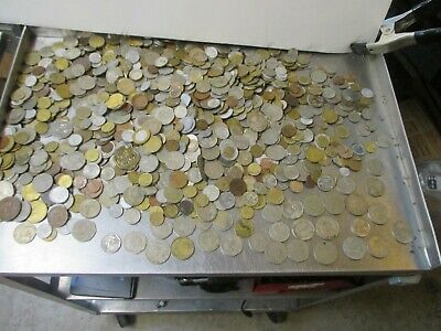 Huge Unsearched Lot Of World Foreign Coins 17 Lbs