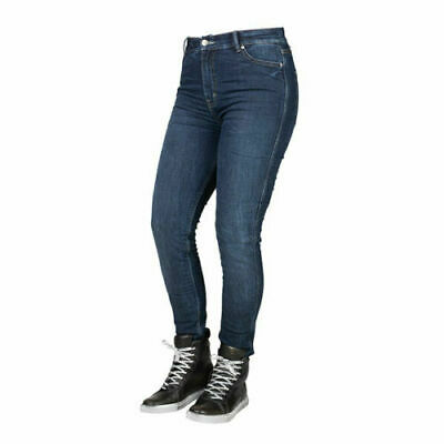 Bull-it Ladies Motorbike Motorcycle Covec Covert Easy Blue Denim Jeans Slim UK12