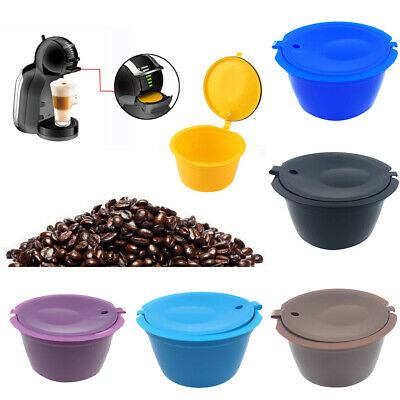Reusable Refillable Coffee Capsules Cup Filter for Nescafe Dolce Gusto NEW