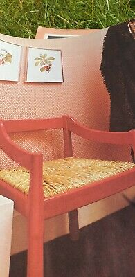 Vintage  Rafia Sewing Macrame pattern How To Re-cover a Chair  Reproduced