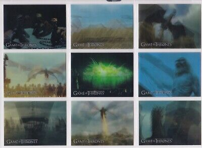 Game of Thrones Inflexions, Complete Lenticular Motion Chase Card Set #L1-L20