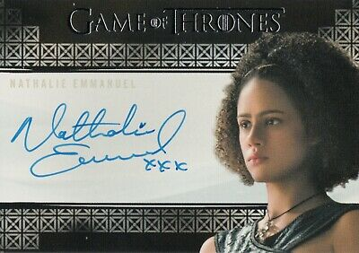 Game of Thrones Inflexions, Nathalie Emmanuel 'Missandei' Autograph Card