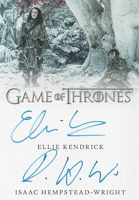Game of Thrones Inflexions,Ellie Kendrick / Hempstead-Wright Dual Autograph Card