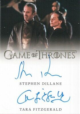 Game of Thrones Inflexions,Stephen Dillane / Tara Fitzgerald Dual Autograph Card