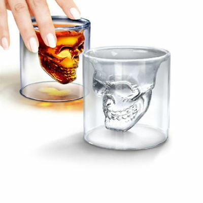 4Pcs/Kit SkullHead Whiskey Tequila Shot Glass Fun Party Wine Beer Drinking Cup