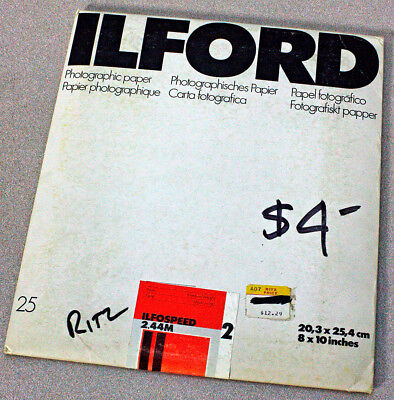 Unopened Pack 8X10 Ilford Ilfospeed 2.44M Photo Paper