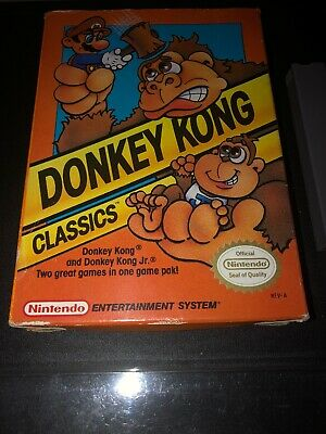 Donkey Kong Classics (1988) NES With Box