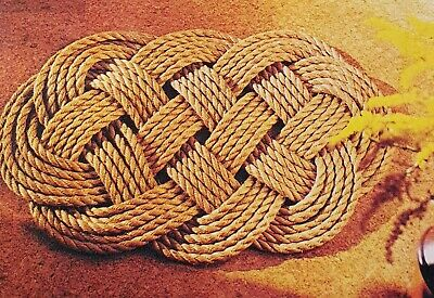 How to make a Lovers Knot Mat or  Coasters from Rope or Raffia Weaving  Pattern