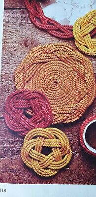How to make a Turks Head  Mat or  Coasters from Rope or Raffia Weaving  Pattern