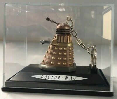 DOCTOR WHO DALEK Gold Collectible Keyring Display Box