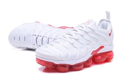 BRAND NEW MEN Nike Air Vapormax Plus White & Red