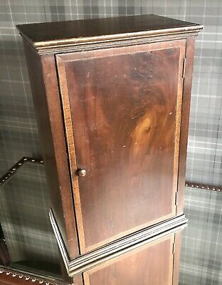 Stunning Antique Old Wood Cabinet Of Curiosity Cupboard 1820s Quality Collect