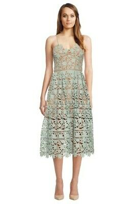 34809aed66f6 GENUINE SELF-PORTRAIT AZAELEA Embroidered-Lace Dress UK10 US6 BNWT ...