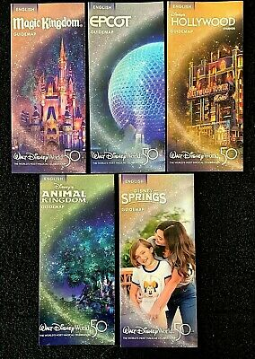 NEW 2019 Walt Disney World Theme Park Guide Maps - 5 Current Maps!! ++ Bonus !!