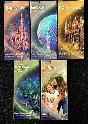 NEW 2020 Walt Disney World Maps - 5 Current Maps!! ++ Bonus !!