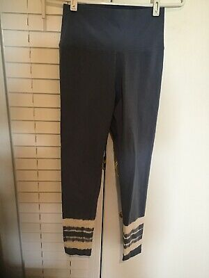 2937fec7271aab AERIE LEGGINGS WIDE Band Chill Play Move Size M Blue American Eagle ...