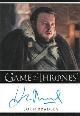 Game of Thrones Inflexions, John Bradley 'Samwell Tarly' Autograph Card
