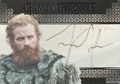 Game of Thrones Inflexions, Kristofer Hivju 'Tormund Giantsbane' Autograph Card