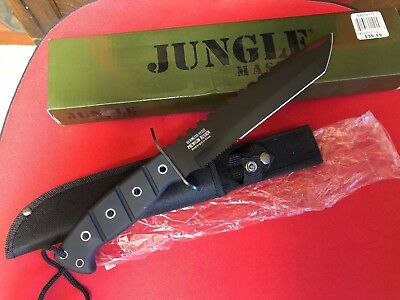 """Military 13"""" Jungle Master Survival Hunting Fixed Blade Knife New in Box"""