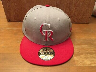 outlet store b7619 fa9c1 Colorado Rockies SZ 7 1 8 New Era 59Fifty Fitted Hat On-field MLB